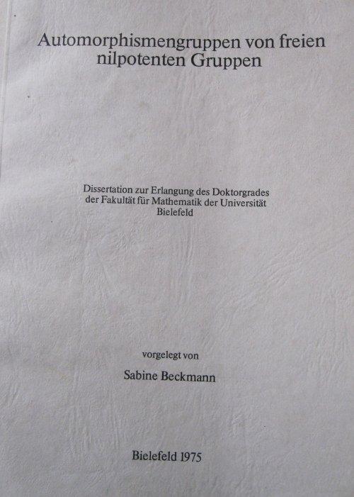 Die von mir verfasste dissertation