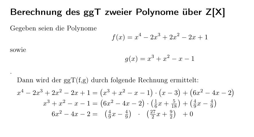 Polynomdivision mit LaTeX | Mehrfachwelten